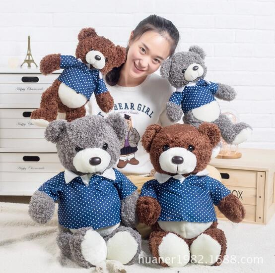 55cm T shirt plush teddy bear doll plush dolls cute bear pillow Teddy,it can take off the clothes 1pcs
