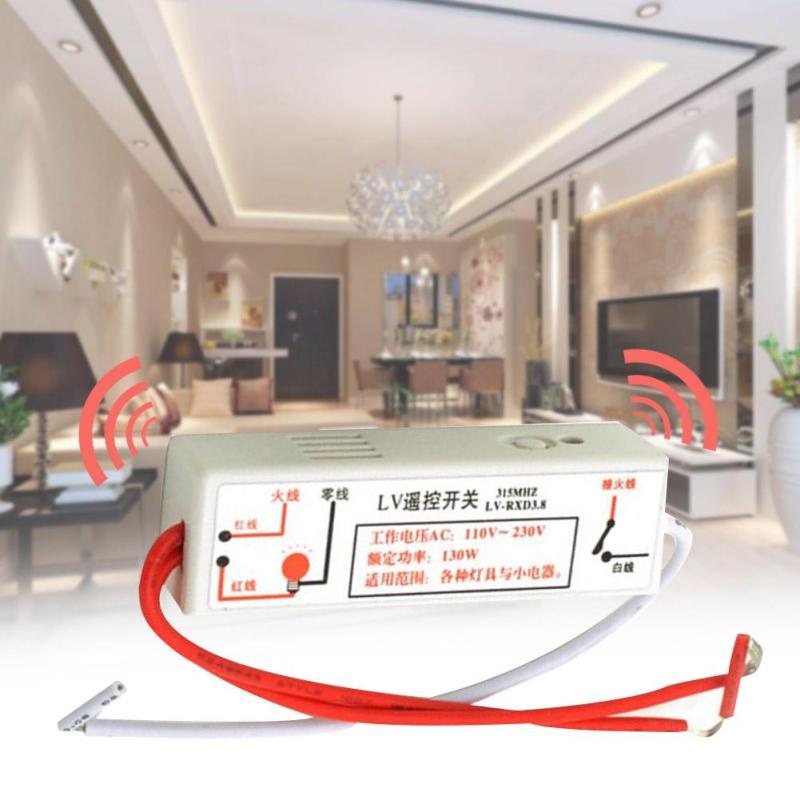 220V Smart Remote Control Switch RF 315MHz Wifi FireWire Wireless Wall Light Learning Type Switch Via Broadlink RM2 RM Pro