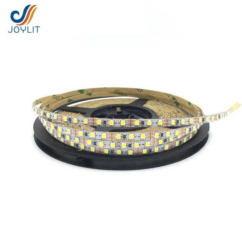 10m/lot Ultra-thin slim width 5mm DC12v 24v LED Strip Light 2835 SMD flexible tape ribbon white pcb 120leds/m 5meter/roll