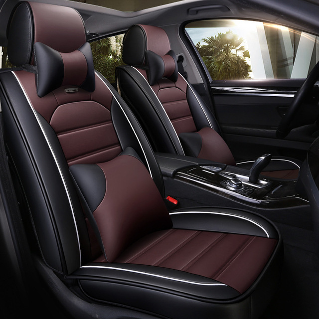 2018 New Model Sports Style 5D Luxury Leather Car Seat Cover Full Set For All Cars