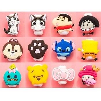 2018 Fashion Cartoon New USB Cable Earphones Protector Colorful Coque For Iphone X 8 4 4s 5 5s 5c Se 6 6s 7 7S 8 8P 9 X  Cases