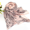 Fashion Floral Pink Summer Style Long Chiffon Ladies Scarf Spring Winter Women Printed Scarves Shawls Bufanda Cachecol