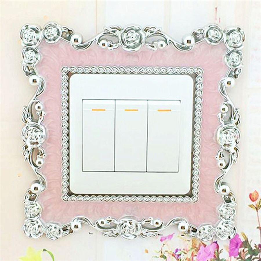 Wallpaper Sticker Home Switch Cover Square Shape Switch Wall Light Socket Stickers Room Decoration Wallpapers For Living Room B#