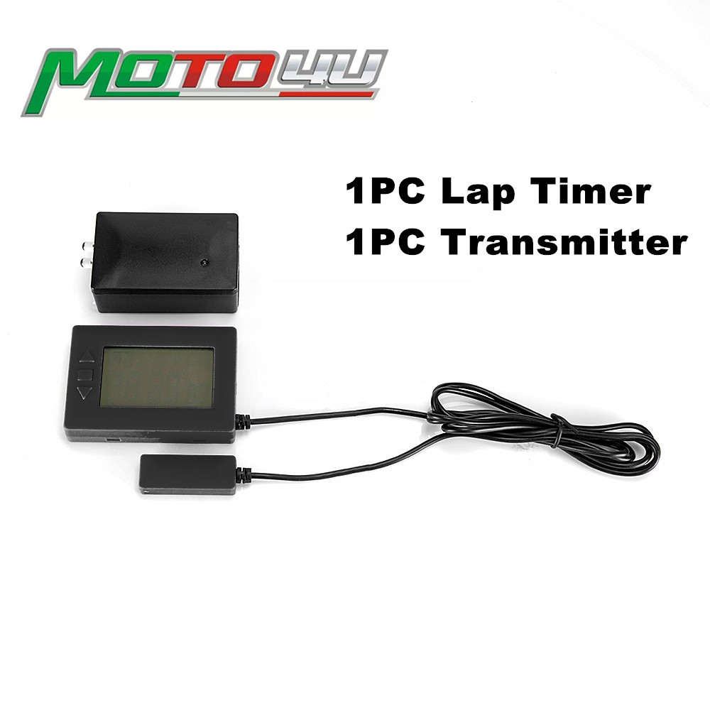 Motorcycle V3 Lap Timer ABS Receiver Infrared Ultrared Transmitter 10 Interval Recorder Karting Racing Track