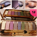 Professional Make Up Naked Palette 9 Colors Eyeshadow maquiagem Shimmer Eyeshadow Pallete Glitter  With Brush & Mirror