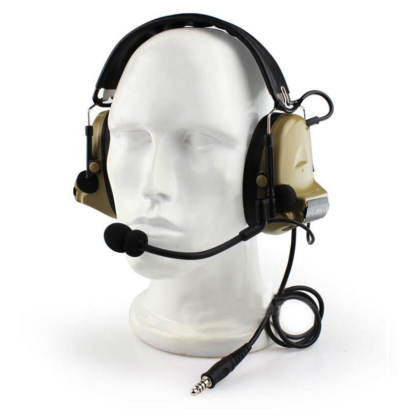 Tactical Headset Hunting CS Military Airsoft Comtac Headphone Chip Denoising Adapterization Headset III comtac 3