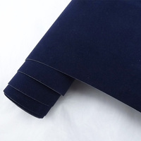 Hot Sale 1 35x15m Air Release Channel Car Velvet Fabric Film Velvet Vinyl Car Wrap Dark