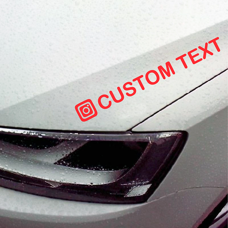 Image 3 - Personalized Custom Instagram Username Waterproof Car and Motorcycle Decals Bumper Sticker-in Car Stickers from Automobiles & Motorcycles