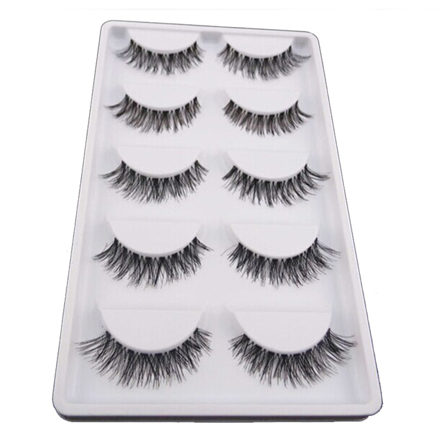 Thick Handmade Natural False Eyelashes (5 Pairs)
