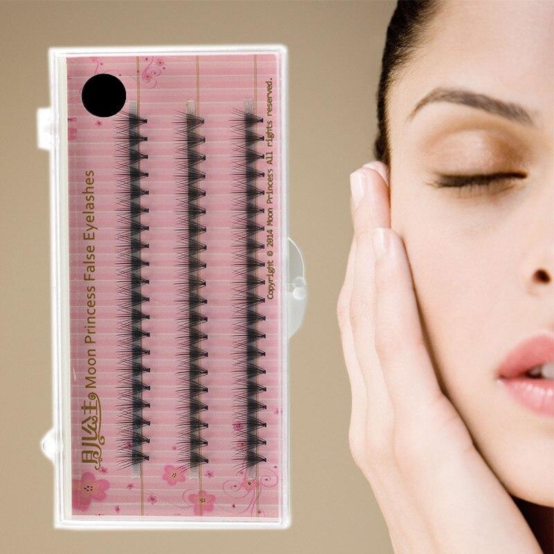 60 pcs/tray handmade natural long 0.07/0.1 C curl false individual eyelashes chin design super soft silk eyelash extension tools