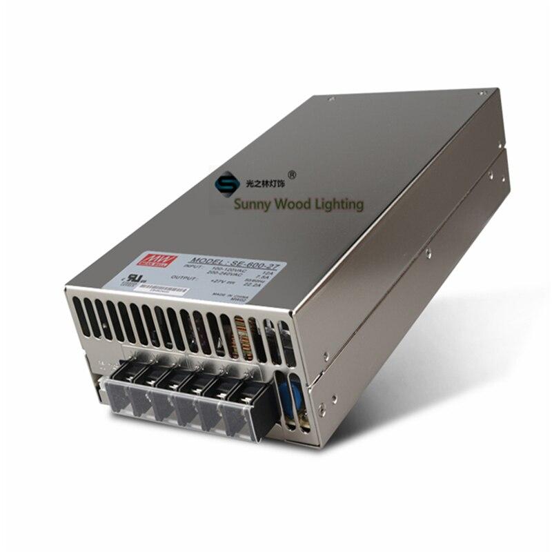 100 240В переменного тока до 27В постоянного тока, 600 Вт, 27В 22.2A UL перечисленные источники питания, светодиодный экран, монитор высокой мощности ф