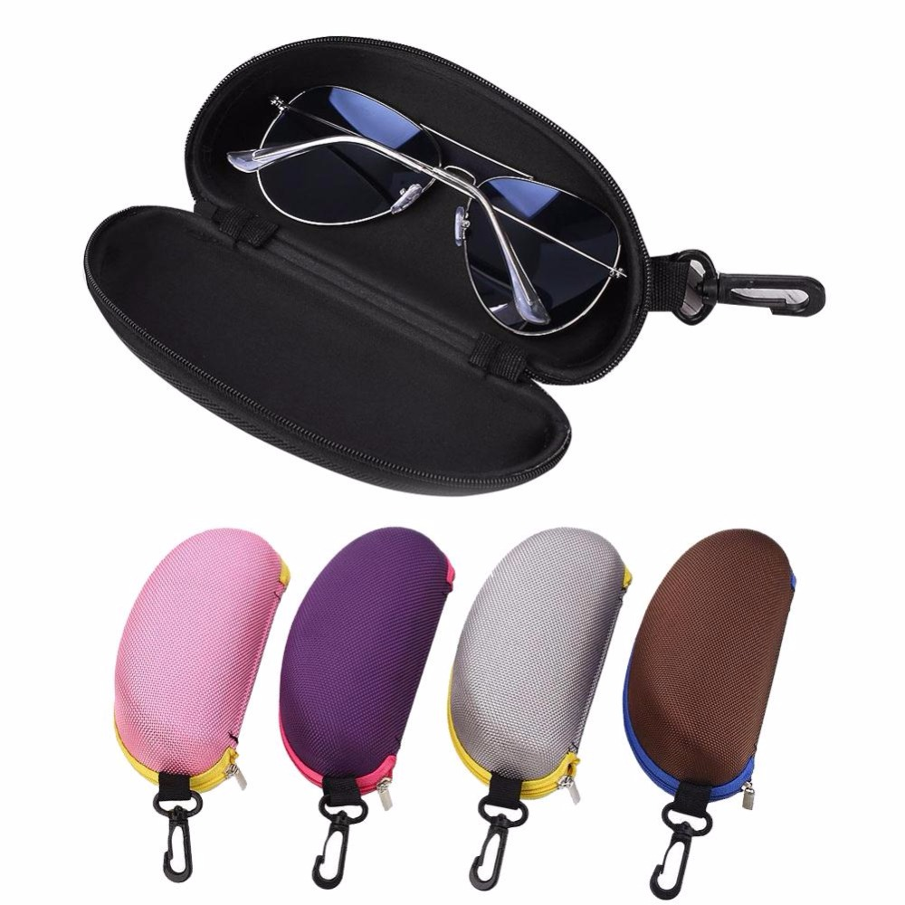 NEW Portable Zipper Eye Glasses Sunglasses Clam Shell Hard Case Protector for Hiking Eyewear Military Goggles Hunting Sunglasses