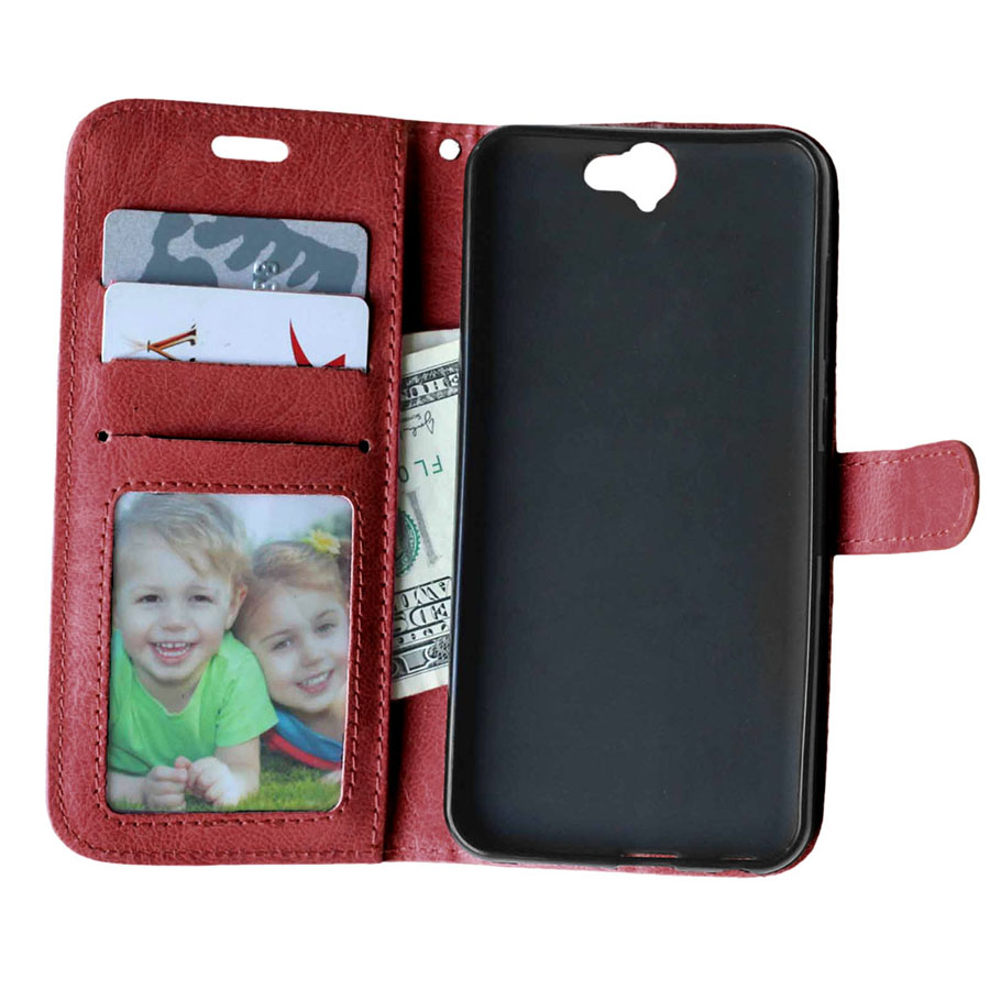 Classic Leather Stand Wallet Card Slot Case For HTC One A9 Flip Cover Luxury Photo Frame Phone Bags Cases Cover For HTC A9