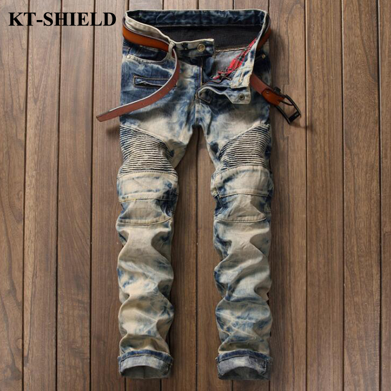 Brand Designer Fashion Men Jeans New Arrival Cotton Slim fit Denim Trousers Masculina Vaqueros Hombre Ripped