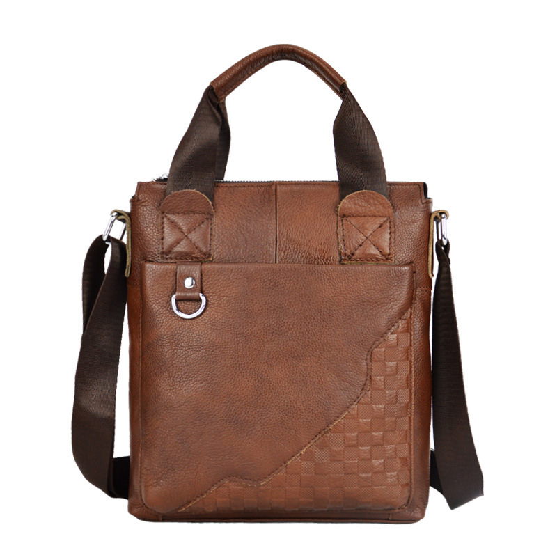 2015 Men leather briefcase brand new genuine leather crossbody ...