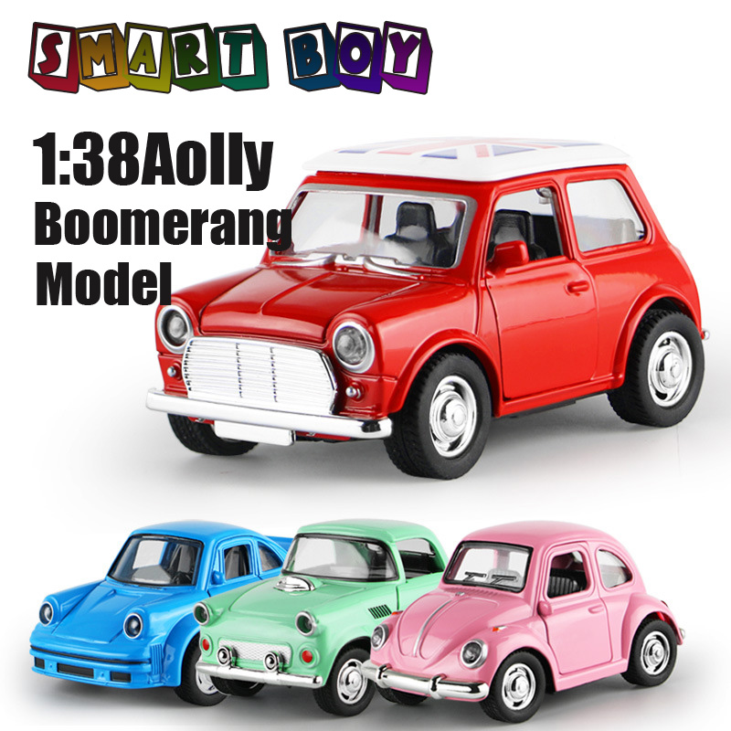 1 38 Diecast Alloy Vehicles 4Classic Model Alloy Lighting Toy Metal Car Toy Model Miniature Pull