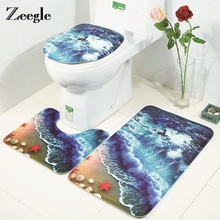 Bath Mat Bathroom Rug Set Floor Mat Non-slip Bathroom Carpet Rugs Shower Room Carpet Mat Toilet Lid Cover Bath Mat Set bathroom carpets absorbent non slip floor mat soft thicken plush shower mat bath bathroom floor foam rug bedroom bedside mat