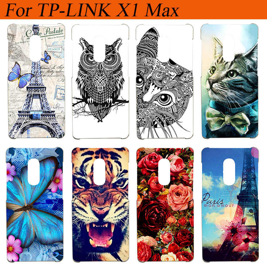"For TP-Link Neffos X1 Max Case Cover Silicon Diy Colored Tiger Owl Rose Soft Cover For TP Link Neffos X1 Max 5.5"" Cases Fundas"