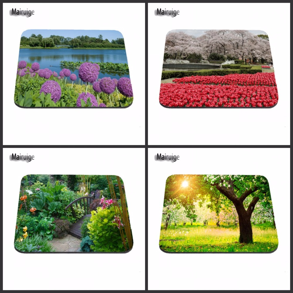 New Arrival Beautiful Garden Rubber Soft Gaming mouse Cool Games black mouse pad As Gift 18*22*2cm/25*20*2cm/29*25*2cm