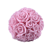 Nicole Silicone Soap Candle Mold 3D Rose Ball Shape DIY Handmade Resin Clay Craft Mould