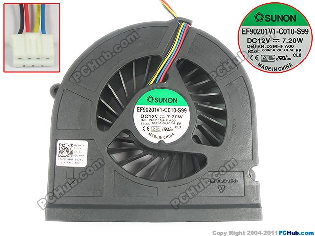 SUNON EF90201V1-C010-S99, D3MHF DC 12V 7.20W 30mm Server Square fan