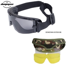 High Quality Military Tactical Goggles UV Protection Militar