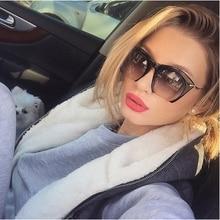 2016 Stylish Half Rim Sunglasses Women Brand Designer Fashion Vintage Lady UV400 Cat Eye Sunglasses Men Party Sun Glass Metal