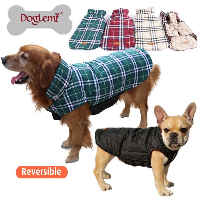 Winddicht Reversible Golden Retriever Große Großen Hund Bekleidung ...