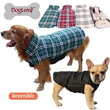 Windproof Reversible Золотистый Ретривер Большая Большая Собака Одежда Одежда Теплая и ветрозащитный Куртки Пальто Размер XS, S, M, L, XL, XXL, XXXL