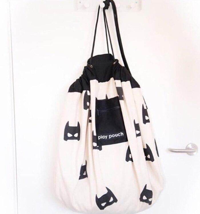 5 стилей INS модный сотовый треугольник плюс точка Бэтмен большая сумка для хранения игрушек с карманом на молнии детский коврик для игры с мешочком - Цвет: batman