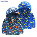 Kids Toddler Boy Jacket Spring Autumn Hooded Coat Children Dinosaur Outerwear Costume Windbreaker Outfits Infant Baby Clothing