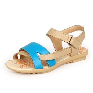 Image 3 - BEYARNE נשים מזדמן עור אמיתי סנדלי העקב שטוח קיץ נעלי אישה תיקון חוף נעלי גדול גודל אמא נעליים