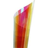 1.37x5m Wholesale Rainbow Colorful Chamelon Window Film Iridescent Decorative bUILDING glass Sticker 54''x196.8''