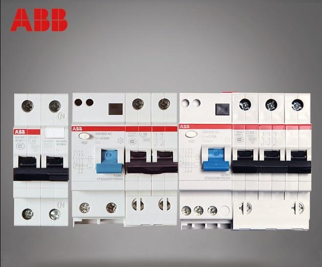 ABB Circuit Breaker Leakage Protector GSH200 Series GSH201+N GSH202 GSH203 GSH204 6A-100A dhl ems 5 lots original s ed43b100 sentron series circuit breaker a1