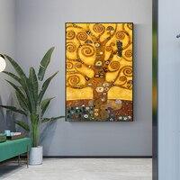 Gustav Klimt Tree Of Life Wall Art oil painting Life Tree Famous Painting Replica Gustav Klimt Canvas Painting For Living Room