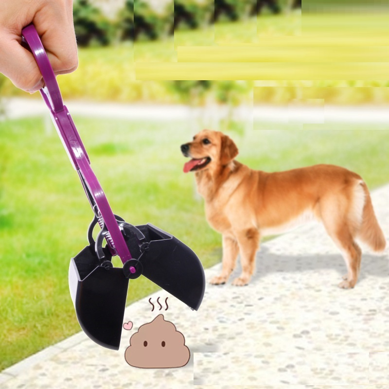Pet Cat Dog Feces Cleaner Pooper Scooper Long Handle Jaw Poop Scoop Outdoor Waste Pick Up Dog Cleaning Products Free Shipping