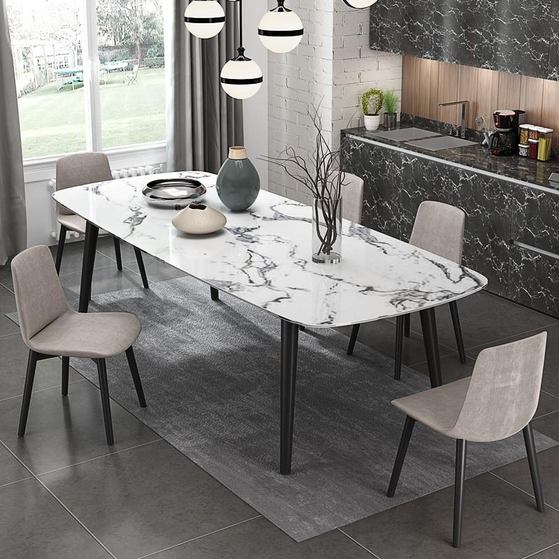 US $530.0 |2018 di nuovo modo moderno artificiale tavolo da pranzo in marmo  per la sala da pranzo # CET011-in Tavoli da pranzo da Mobili su AliExpress
