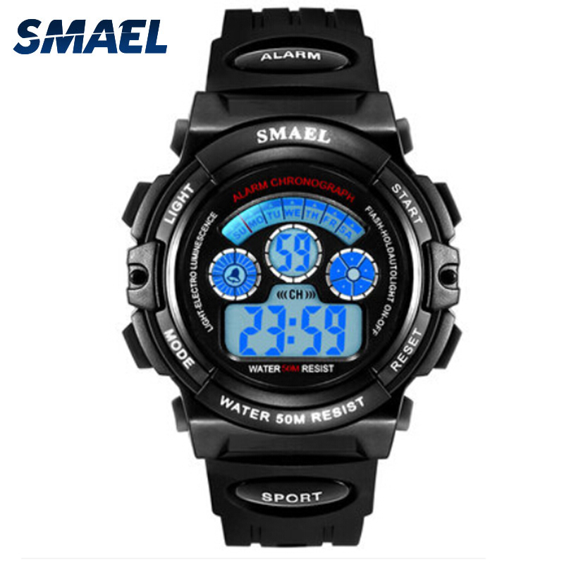 SMAEL Children Sport Watches LED Display Waterproof Fashion Casual Smart Electronic 0508S Student Clock Digital Watch