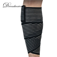 1 pcs calf Supports Tape Kinesiology wound bandage compression knee brace Elastic Leg Sleeve Protective Pressurized Stretch Wrap