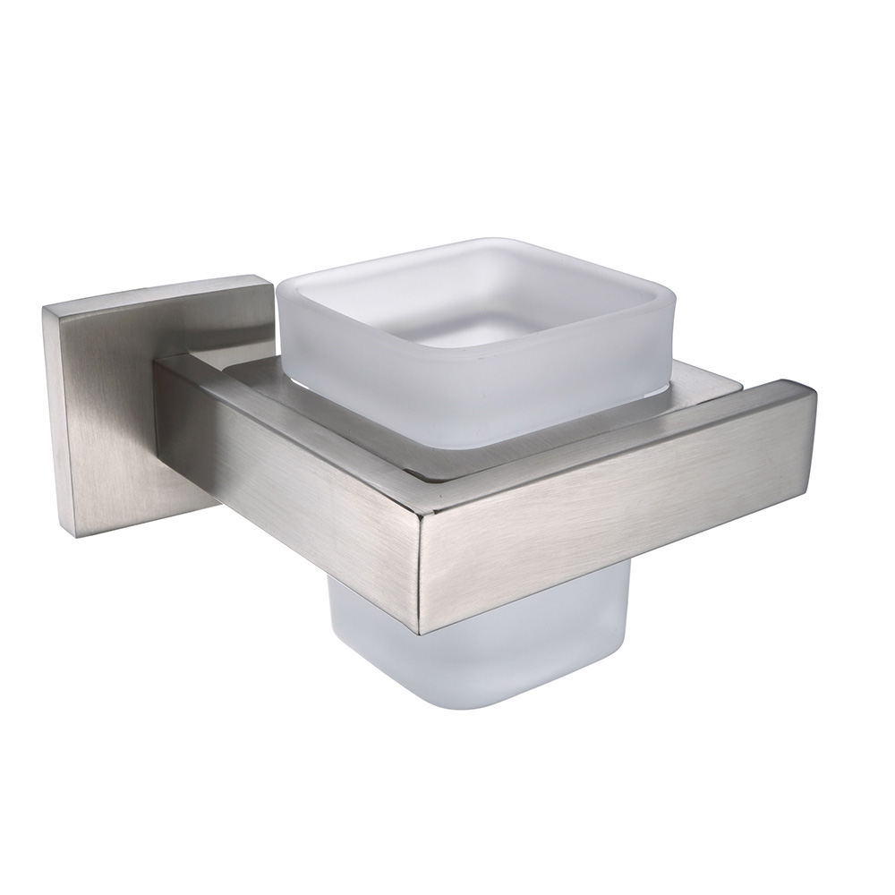 AUSWIND Wall Mount Solid Square Toothbrush holder Stainless Steel Bathroom Tumbler Bathroom Hardware Sets FV6 image