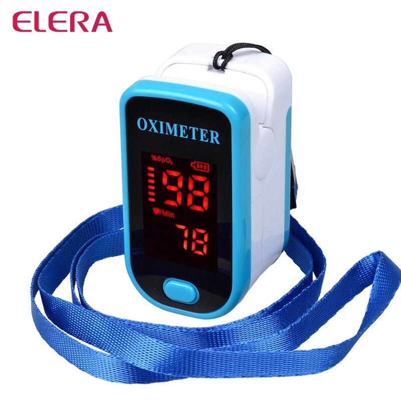 ELERA Finger Pulse Oximeter Portable Fingertip Pulsioximetro a Finger SPO2 PR Oximetro de dedo Digital