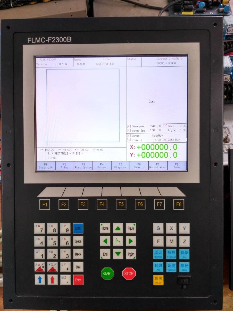 Hot Sell CNC Controller Flame Plasma Cutting Machine CNC Controller Stepper Motor Servo Motor Controller 10.4'' Screen F2300B цена
