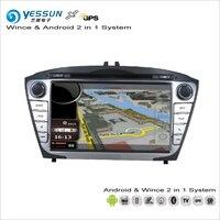 Yessun para Hyundai Tucson/I35 2014 ~ 2016 coche Android multimedia Radios CD reproductor de DVD GPS Navi Mapas navegación audio Video ESTÉREO