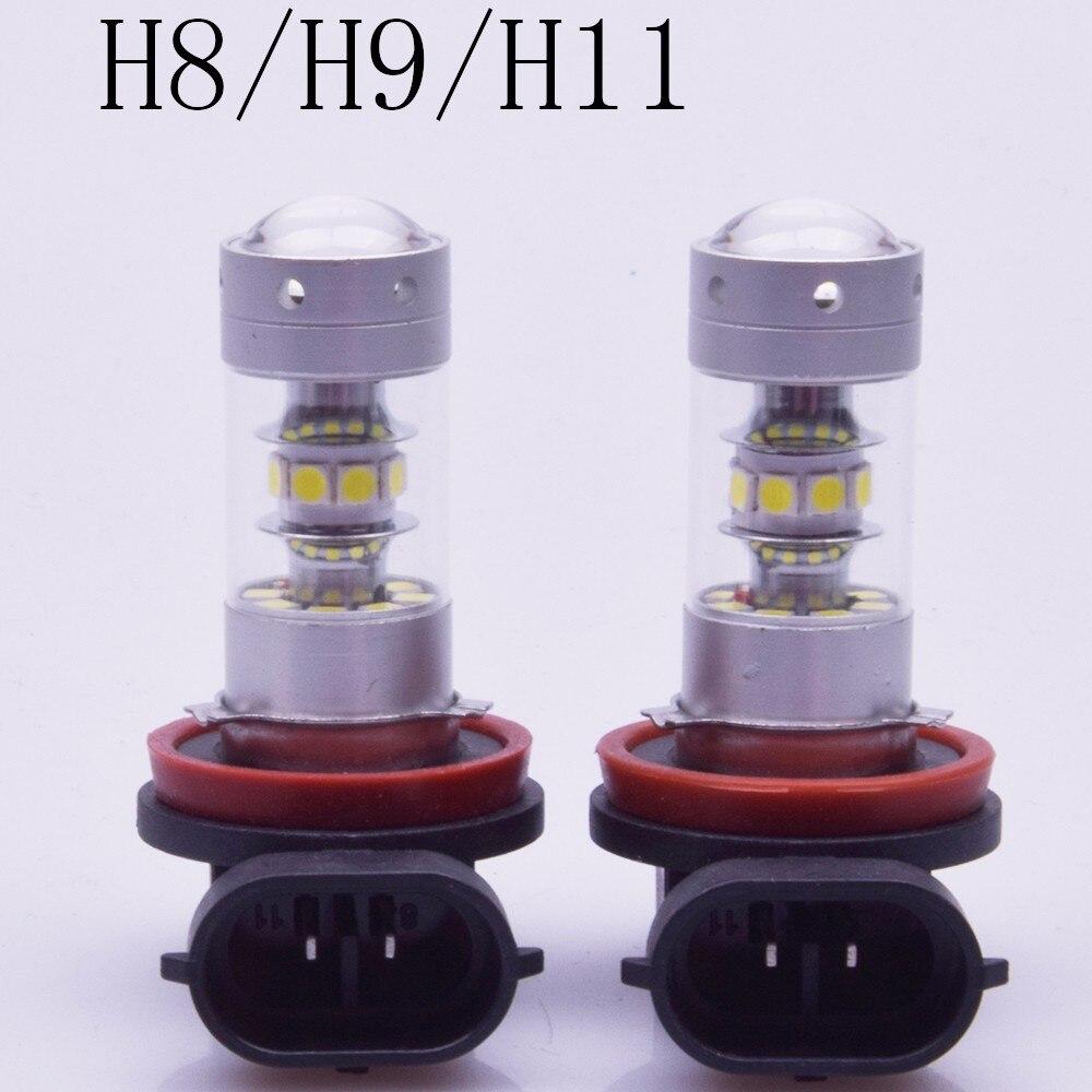2x140 watt 1200lm chip H1 H3 H7 H8 H9 H11 H4 9005 9006 led fendinebbia 12 v auto la Lampadina 5500 karat