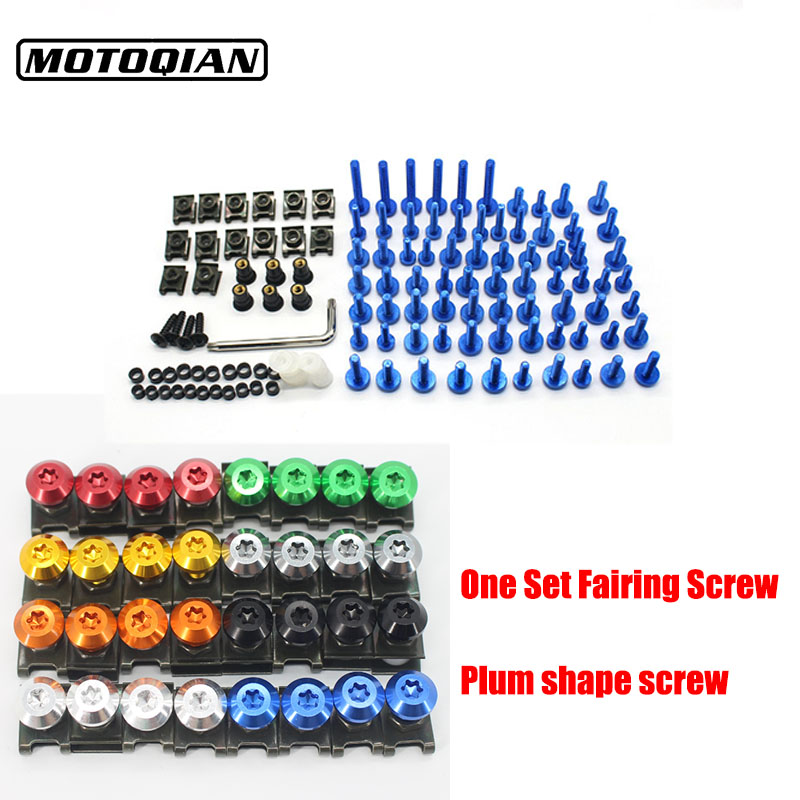 For Benelli Trk502 BN302 TNT300 TNT600 BN600 BJ125-3E Universal Motorcycle Fairing Bolts Spire Fastener Clips Screw Spring Nuts
