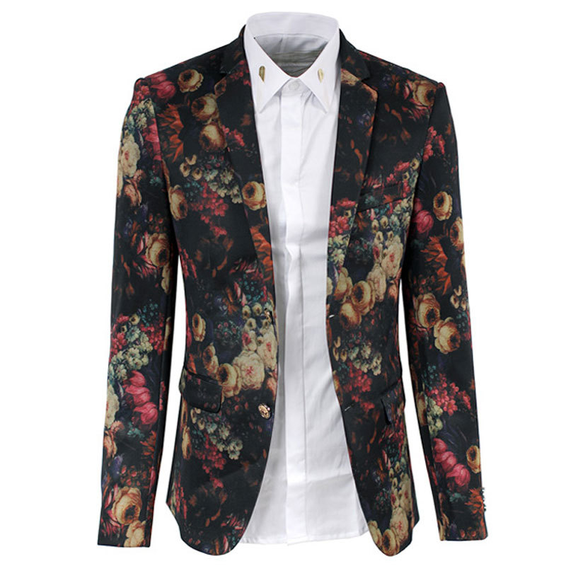 Popular Mens Blazer Floral-Buy Cheap Mens Blazer Floral lots from ...