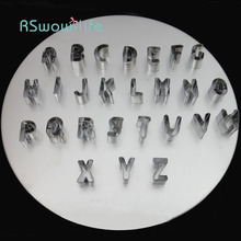 DIY Stainless Steel Biscuit Mold Fruit Cut 26 English Alphabet Food Drying Net