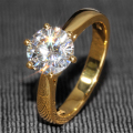 Queen brilliance 2 carat ct f color laboratorio crecido moissanite Anillo de bodas De diamante Sólido 14 K Oro Amarillo 585 Para mujeres