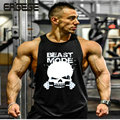 Mens sexy cotton tank top men bodybuilding clothing Sleeveless tops vest fitness Big Size Fit 100KG shirt muscle loose gyms