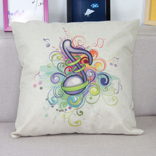 Modern Music Style Cushion Cover